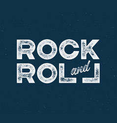 Rock and roll t-shirt and apparel design with with vector