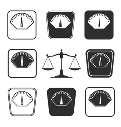 Scale icon set vector