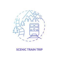 Scenic train trip concept icon vector