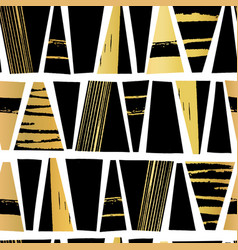 seamless pattern gold foil and black vector image