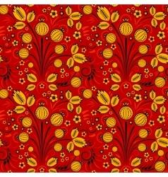 Seamless pattern in slavic folk style vector