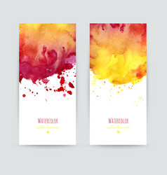 Set of two banners vector image
