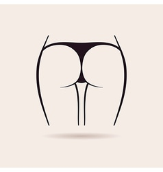 Sexy panties icon women ass in thong vector