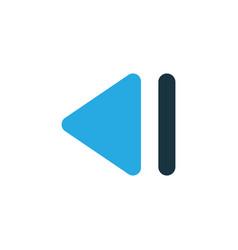 Slow backward colorful icon symbol premium vector