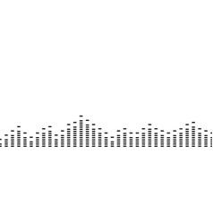 sound digital wave simple black border music vector image
