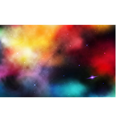 space background realistic cosmos with stardust vector image