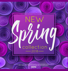 Spring fashion banner with handwritten calligraphy vector