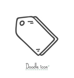 tags doodle icon vector image