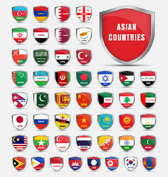 Template boards with flags of the countries vector