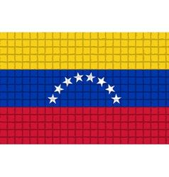 The mosaic flag of Venezuela vector