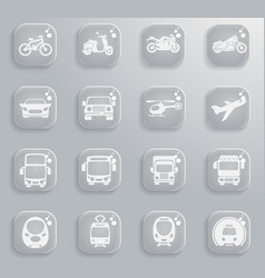 Transport mode icons vector