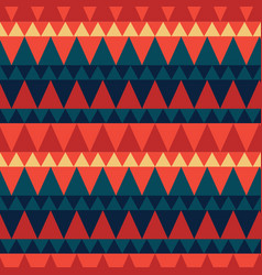 triangular forest mountain seamless pattern vector image