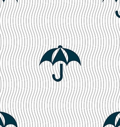 Umbrella icon sign Seamless pattern with geometric vector