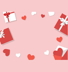 valentines day background gifts confetti vector image