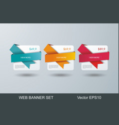 Web banners design for options infographic vector