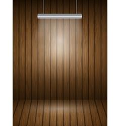 Wooden planks interior vector image