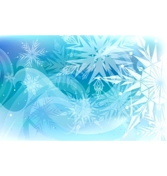 Beautiful background with snowflakes happy vector