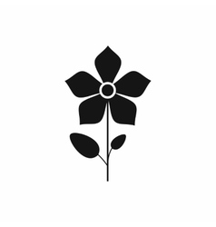 Flower icon in simple style vector image vector image