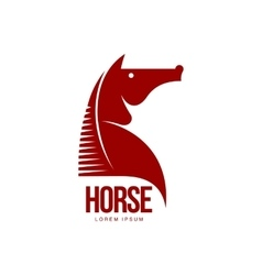 Horse head profile graphic logo template vector image