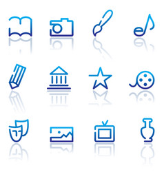 icons of arts vector image