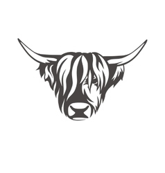 image of an cow sign for butchers shop vector image