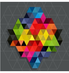 Rainbow triangles with line water mark background vector