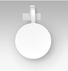 Blank Round Paper Plastic Price Wobbler Front view vector image