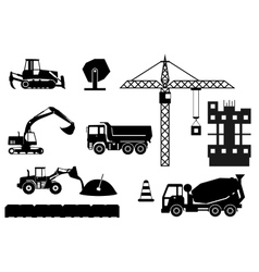 Construction site building a house - flat vector image vector image