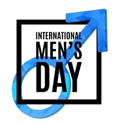 International men s day poster vector