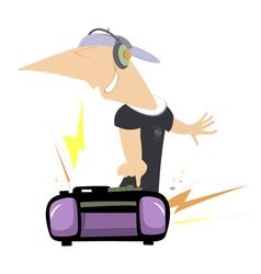 Loud music vector image