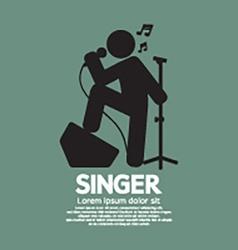 Standing Singer Black Graphic Symbol vector image