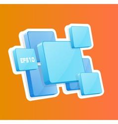 3D panels vector image