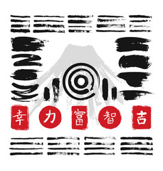 ink calligraphy brushes with japanese or chinese vector image vector image