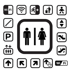 Public icons set eps10 vector