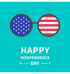 Round glasses stars and strips independence day vector image