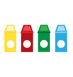 set recycle bin on white background recycle vector image