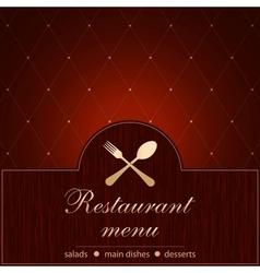 Template of a Restaurant Menu vector image vector image