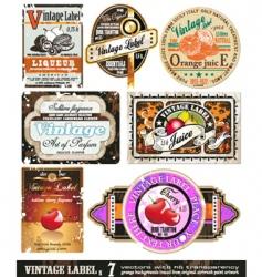 vintage labels collection set vector image vector image