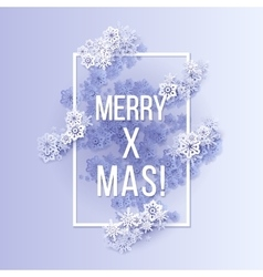 Christmas and New Years blue purple background vector image