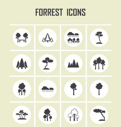 forrest icons vector image