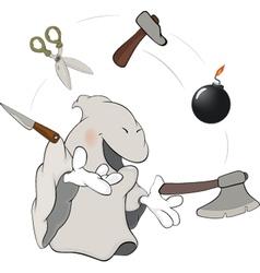 Ghost the juggler cartoon vector image vector image