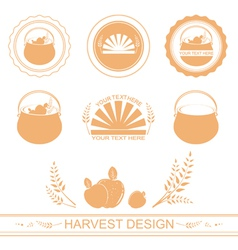 harvest designs vector image vector image