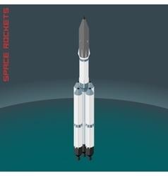Isometric russian space rocket Angara vector image vector image