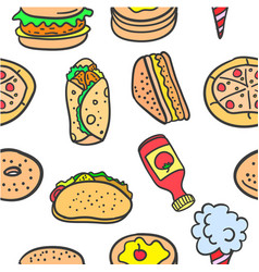Art of food various doodles vector