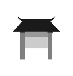 asian front gate entrance graphic vector image
