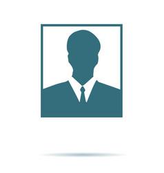 avatar icon flat symbol isolated on white vector image