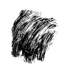 black brushstroke banner vector image