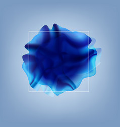 blue flow poster with line banner vector image