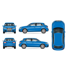 blue suv car mock up vector image