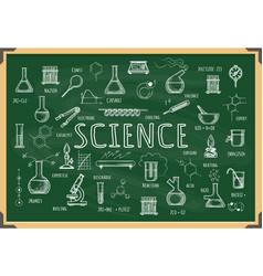 board with school chemistry sketch vector image